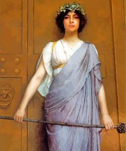 At The Gate Of The Temple william godward paint by number