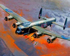 Avro Lancaster Bomber paint by number