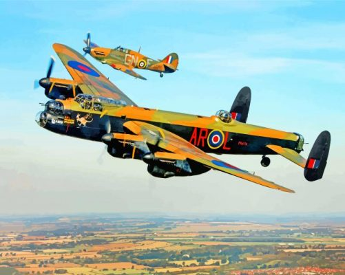 Avro Lancaster Heavy Bomber paint by number