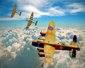 Avro Lancaster Planes paint by number