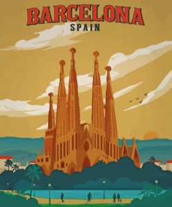 Barcelona Spain paint by numbers