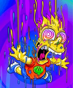 Bart Simpson Illustration paint by numbers