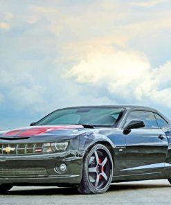 Black Chevrolet Camaro paint by numbers