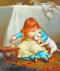 Charles Burton Barber Once Bit Twice Shy paint by numbers