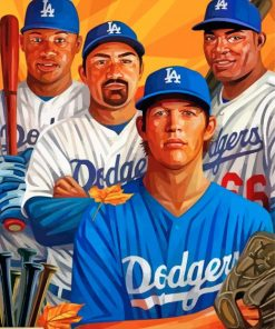 Dodgers Players paint by number