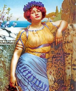 Godward Ionian Dancing Girl paint by number