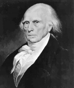 James Madison Black and White paint by number