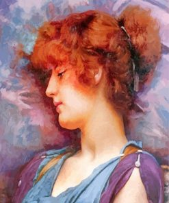 John William Godward Far Away Thoughts paint by numbers