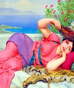 John William Godward Noon Day Rest paint by numbers