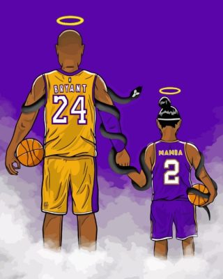 Kobe And Daughter paint by numbers