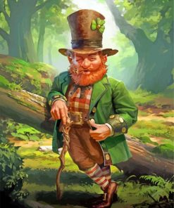Leprechaun paint by numbers