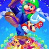 Luigi And Super Mario paint by numbers