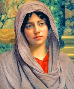 Lycinna By John william godward paint by number