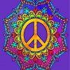 Mandala Peace paint by numbers