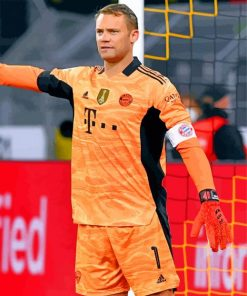 Manuel Neuer paint by numbers