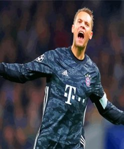 Manuel Peter Neuer paint by numbers