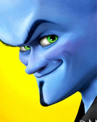 Megamind Face  paint by numbers