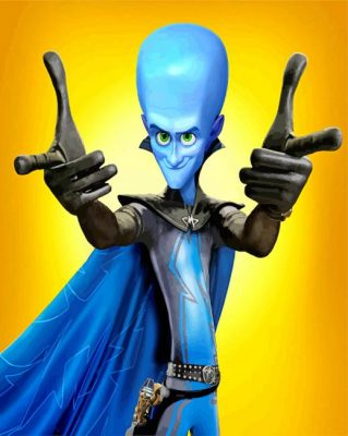 Megamind paint by numbers