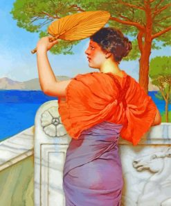 On The Balcony william godward paint by number
