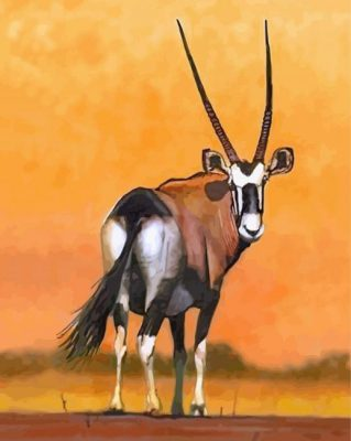 Oryx Bull paint by numbers