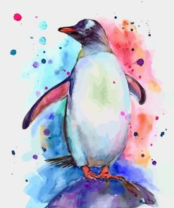 Penguin Art paint by numbers