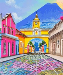 Santa Catalina Arch Guatemala paint by number