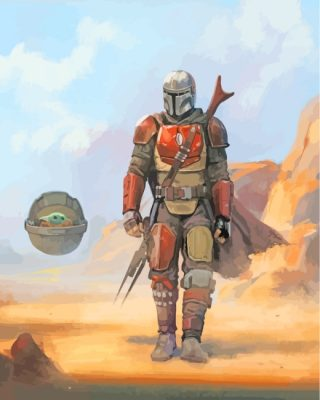 Star Wars The Mandalorian Art Paint by numbers