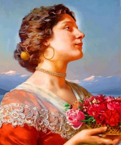The Bouquet william godward paint by numbers
