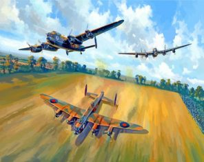 The Lancasters Aircraft paint by number