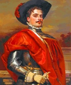 The Proud Cavalier Cesar Auguste Detti paint by numbers