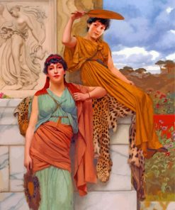 Waiting For The Procession By John william godward paint by number