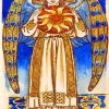 William Morris Day Angel Holding a Sun paint by number