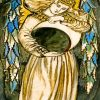 William Morris Night Angel Holding a Waning Moon paint by number