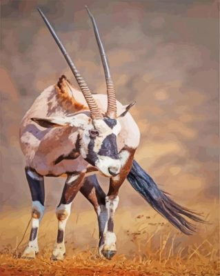 Aesthetic Oryx Animal paint by numbers