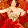 Alphonse Mucha Le Rubis paint by number
