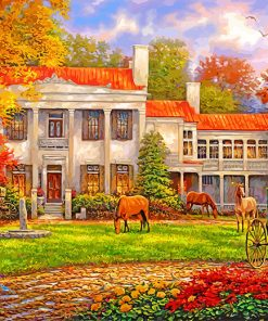 Autumn Afternoon At Belle Meade paint by numbers