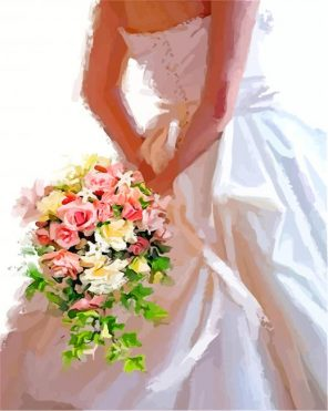 Bride And Flowers paint by numbers
