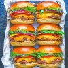 burgers paint by numbers