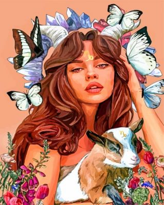 Capricorn Woman paint by numbers