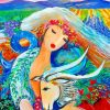 Capricorn Astrological Goddess paint by numbers