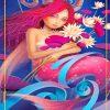 Capricorn Mermaaid Goddess paint by numbers
