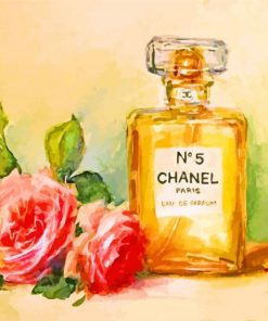 Chanel And Flowers paint by numbers