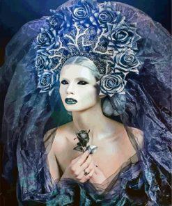 Dark Art Woman paint by numbers
