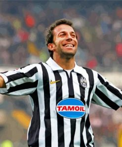 del piero juventus jersey paint by number