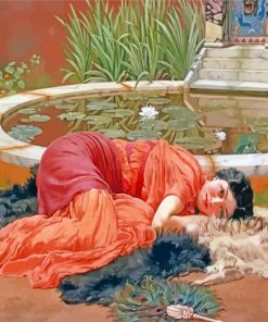 Dolce Far Niente william godward paint by number