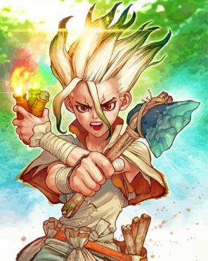 Dr Stone Ishigami Anime paint by number