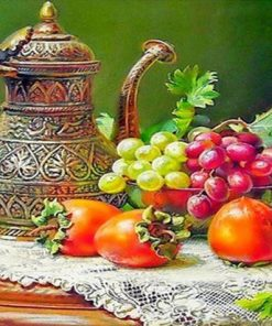 Grapes Fruit Still Life paint by numbers