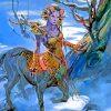 female Centaur Druid paint by number