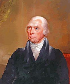 james madison portrait paint by number
