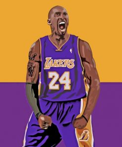 Kobe Bryant Basketball Player paint by numbers